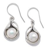 Boucles d'oreille Hagit en argent sterling avec perle d'eau douce