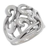 Hagit Sterling Silver Swirl Design Ring