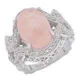 Dallas Prince Sterling Silver Oval Morganite Ring