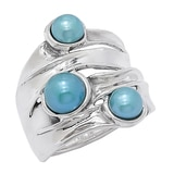 Hagit Sterling Silver Cultured Pearl Ring