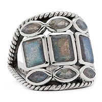 Himalayan Gems Sterling Silver Labradorite Multi-Shape Ring