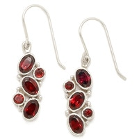 Hiamalayan Gems Sterling Silver Multi-Garnet Earrings