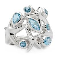 Himalayan Gems Sterling Silver Gemstone Starfish Ring