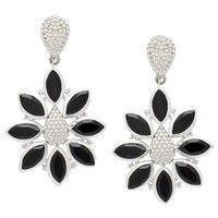 Himalayan Gems Sterling Silver Gemstone Flower Earrings