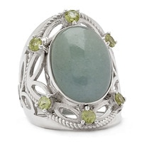 Himalayan Gems Sterling Silver Multi-Gemstone Ring