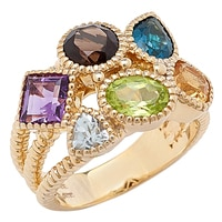 Sincerely Yours, Karen Sterling Silver Multi-Gemstone Ring