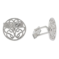 Hope-Knot Sterling Silver Hand Crafted Hope-Knot Cufflinks