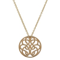 "Hope-Knot 14K Gold Hand Crafted Hope-Knot Pendant with 18"" Chain"