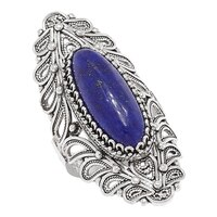 Ottoman Silver Sterling Silver Filigree Lapis Ring