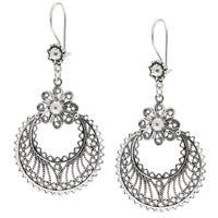 Ottoman Silver Sterling Silver Cresent Filigree Drop Earrings