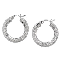 Silver Spectrum Sterling Silver Rhodium Plate Everyday Hoop Earrings