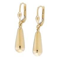 10K Yellow Gold Teardrop Dangle Earrings