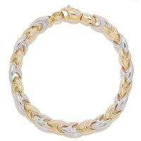 Bracelet de 7,5 en or bicolore 10 ct maillons en V