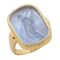 Bague ornée d'un camée représentant une muse sur or jaune 14 ct de Vicenza Gold