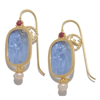 Vicenza Gold 14K Yellow Gold Muse Earrings