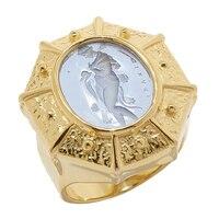 Vicenza Gold Sterling Silver Fibula Ring