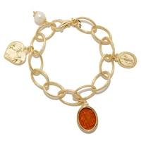 Vicenza Gold Sterling Silver Le Tre Fortune Protection Bracelet