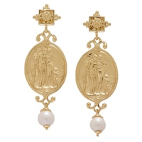 Vicenza Gold Sterling Silver 3 Graces Earrings