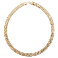 Stefano Oro 14K Yellow Gold Grande Mesh Omega Necklace