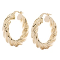 Stefano Oro 14K Yellow Gold Ricciolo Hoop Earrings