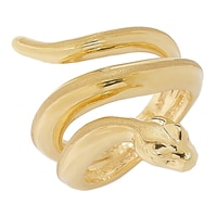 Stefano Oro 14K Yellow Gold Silicone-Filled Artform Snake Ring