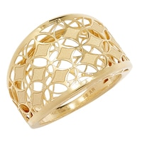 Stefano Oro 14K Yellow Gold Marquise Ricami Ring