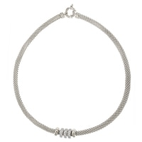 Toscana Diamonelle Sterling Silver Mesh Tubolar Necklace