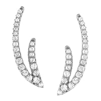 Boucles d'oreille ornées de similidiamants Diamonelle® sur argent sterling rhodié de la collection Toscana Diamonelle