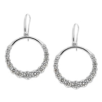 Toscana Diamonelle Sterling Silver Dangle Diamonelle Earrings