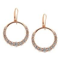 Pendants d'oreille ornés de similidiamants Diamonelle® sur argent sterling de la collection Toscana Diamonelle