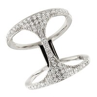 Bague ornée de similidiamants Diamonelle® sur argent sterling de la collection Toscana Diamonelle