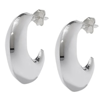 Silver Spectrum Sterling Silver Polished Half Moon Hoop Earrings