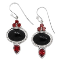 Himalayan Gems Sterling Silver Gemstone Earrings