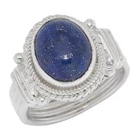 Bague parée d'un lapis lazuli sur argent sterling de Himalayan Gems