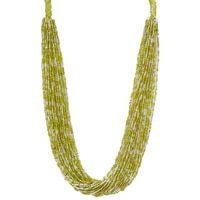 Himalayan Gems Handcrafted Multi Strand Glass Bead Necklace