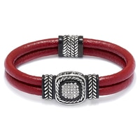 Emma Skye Crystal Leather Bracelet