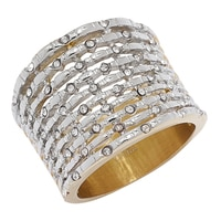 Emma Skye Burnished Two Tone Crystal Ring