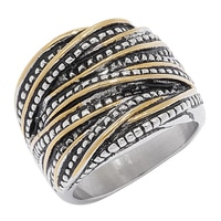Emma Skye Two-Tone Crossover Ring