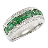TYCOON for Diamonelle Sterling Silver Simulated Emerald Band