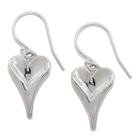 Hagit Sterling Silver Heart Shape Earrings