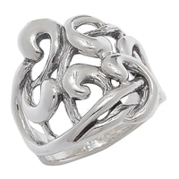 Hagit Sterling Silver Swirl Design Ring