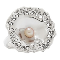 Hagit Sterling Silver Pearl Ring