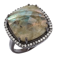 Lucy Malika for Diamonelle Labradorite Sterling Silver Ring