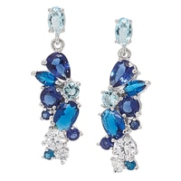 Diamonelle Sterling Silver Simulated Gemstone Cluster Earrings