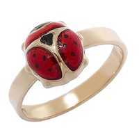 10K Yellow Gold Ladybug Ring