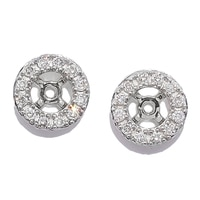 Boucles d'oreille balancier pavées de diamants (0,13 ct), sur or 18 ct