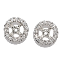 18K Gold 0.15 ctw Diamond Earrings Jackets