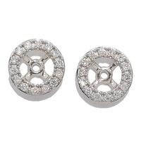 Boucles d'oreille diamantées (0,15 ct) en or 18 ct