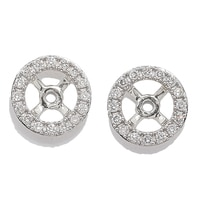18K Gold 0.18 ctw Diamond Earrings Jackets
