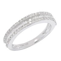10K Gold 0.42 ctw Diamond Baguette Ring